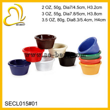 Colour Melamine Round Small Ramekins