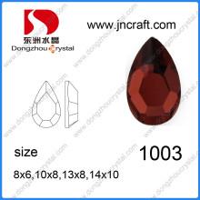 China Factory Price Drop Rhinestone Flattbacks Glass Crystal Stone