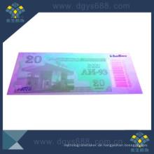 UV Unsichtbare Anti-Counterfeiting Coupon Druck mit Barcode