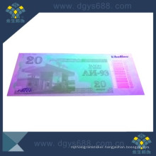 UV Invisible Anti-Counterfeiting Coupon Printing with Barcode