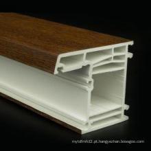 Material de construção de janela de perfis uPVC
