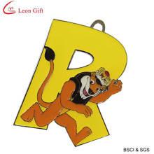 Venda quente Animal carta Keychain chaveiro para presente (LM1421)