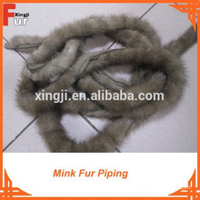 Light Brown Natural Mink Fur Piping