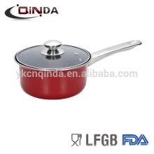 Bandeja de cobre do leite do saucepan do aço de carbono do cookware do saucepannonstick do preço do competidor