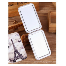 Europe Portable Folding Mirrors, Creative Mini Metal Square Mirror for Traveling