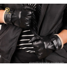 Hot selling mens fashion cashmere lining winter leather gloves