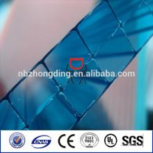 3-Wand-Rechteck-Struktur Hohl-Polycarbonat-Folie
