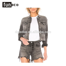 latest women denim jacket fashion jeans and coat apparel set