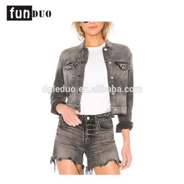 últimas mujeres denim jacket jeans de moda y ropa de abrigo conjunto