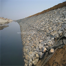 Cestas de malha de arame gabião para quebra-mar