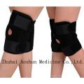 Heißer Verkaufs-elastischer Knie-Stützschutz mit Loch im Knie