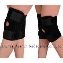 Hot venda elástico joelho suporte protetor com buraco no joelho