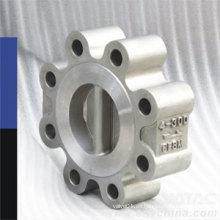 Válvula de retención de la oblea de las placas dobles del tipo completo del tirón (H76H)