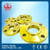China manufactured good quality golden color 2 inch class 150# S.O.R.F ASTM A105 flange