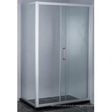 Cabine de douche carrée rectangulaire à cadre solide