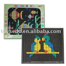 DIY игрушки головоломки, 3D образовательных пластиковых игрушек