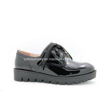 Comfort Plataforma mujer zapatos de cuero de ocio para señora