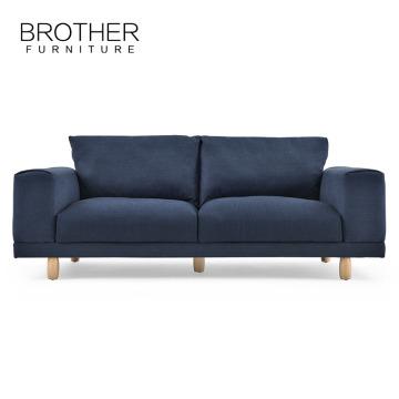 Le sofa de nouveau modèle de tissu de conception moderne bleu met des images paresseux garçon canapé