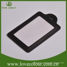 Подгонянный eco-friendly держатель значка, кожаный держатель визитной карточки