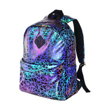 Casual Daypack High Visibility Reflective Backpack Bag with Earphone Port