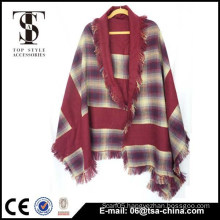 2015 winter red new design reversible shawl scarf new design shawl