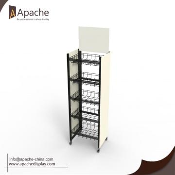 Moveable Metal Wine Display Stand