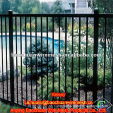 Galvanized steel pipe black iron fence