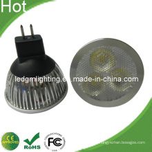 3-in-1 Objektiv 6W LED Spot-Licht mit kurzen schwarzen Sockel