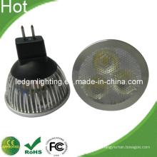3-em-1 lente 6W LED Spot Light com Base preta curta