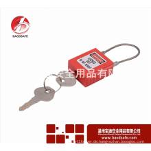 Wenzhou BAODSAFE Kabel Edelstahl Sicherheits-Vorhängeschloss BDS-S8651Red