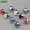 12mm CMP waterproof 1NO IP67 momentary or latching(self-locking) plastic colored push button