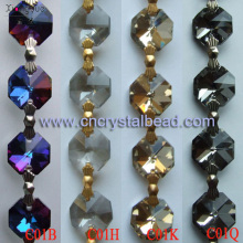 DL01 Crystal Octagon Bead Chain