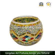 Fabricante turca artesanal do mosaico votivas chá-luz titular