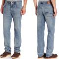 Blue Men Cotton Stretch Basic Wash Fashion Wash Casual Wear Slim Fit Straight Denim Jeans