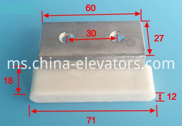 Fujitec Elevator Door Gib Door Slider Door Shoe White Nylon