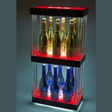 2-Tier LED Acrílico Champagne titular de la pantalla