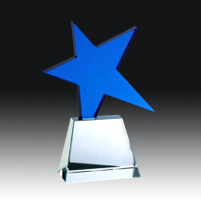Blank Star Shape Crystal Trophy/Award/Plaque