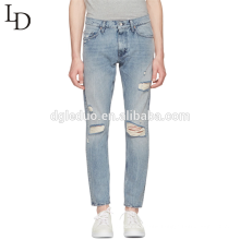 Leisure fashion cut up high quality men jeans pants