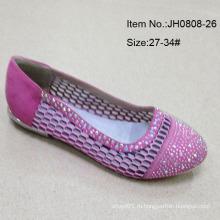 Девочка обувь Одноместный обувь плоские туфли Дети тапочки (JH0808 -26)