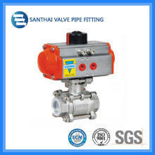 Stainless Steel Pneumatic Control Actuator Ball Valve for Water Treatment