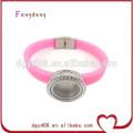 Bracelet en silicone mode 2015 avec médaillon en cristal CZ