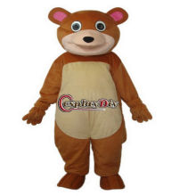 hot sale plush Round Mouth Bear mascot costume for promotion
