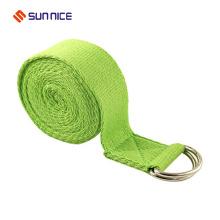 100% Cotton D ring Yoga Strap