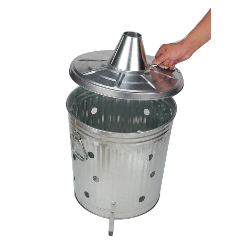 Orchard Trash Can With Lid