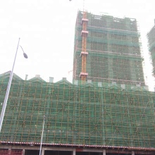 filet de sécurité de construction noir et vert