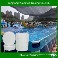 Tableta eficiente de dióxido de cloro para el tratamiento de piscinas