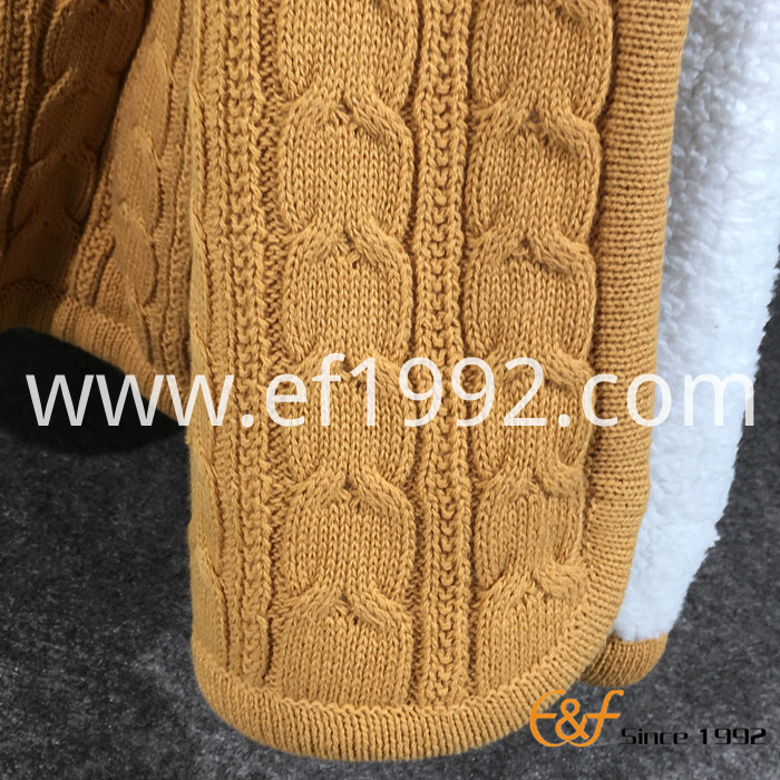 cotton Sherpa composite knitted throw blanket