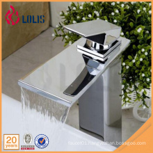 New products chrome single lever bathroom sink waterfall faucet