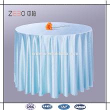 "Tela de poliéster de alta calidad de diferentes colores disponibles 120 ""paño de mesa de lino redondo"