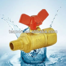 191-TM red punch Brass Mini Ball Valve With Red Handle Corea